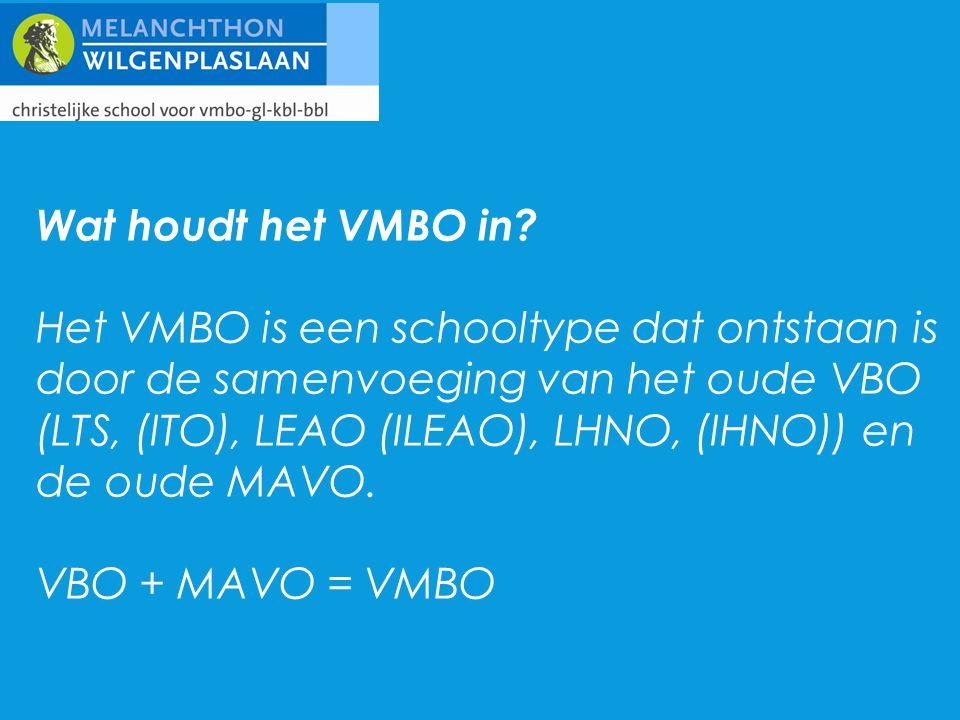 Wat houdt het VMBO in.