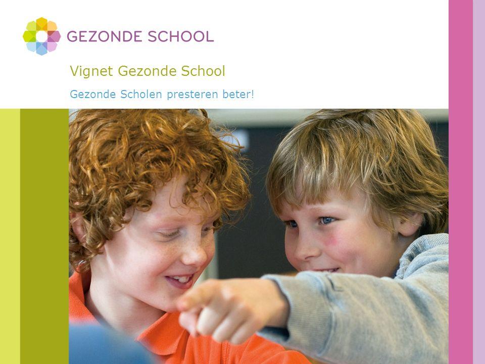 Inhoud Wat is een Gezonde School.Wat is het vignet Gezonde School.