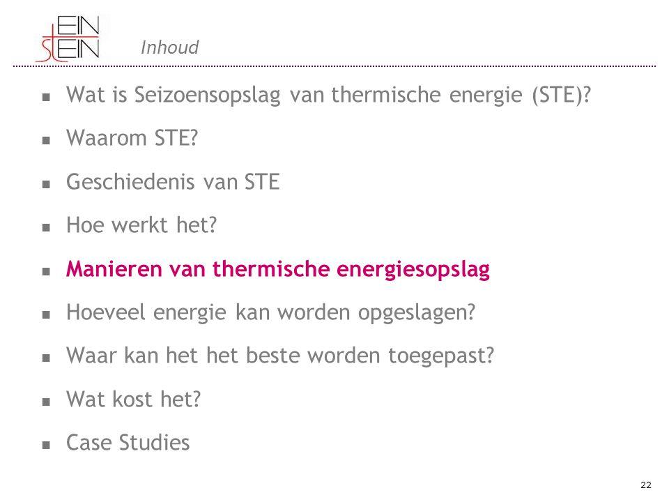 Inhoud Wat is Seizoensopslag van thermische energie (STE).