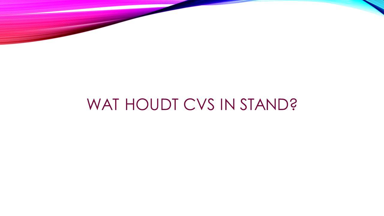 WAT HOUDT CVS IN STAND?