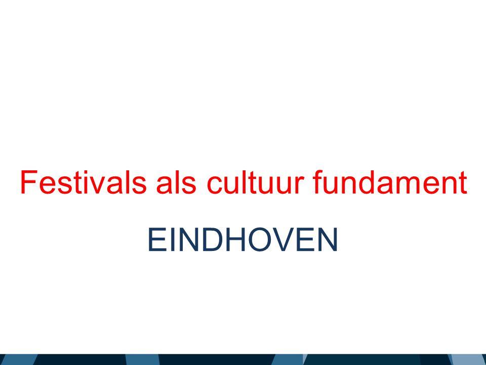 Festivals als cultuur fundament EINDHOVEN