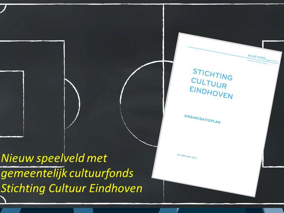 Nieuw speelveld met gemeentelijk cultuurfonds Stichting Cultuur Eindhoven
