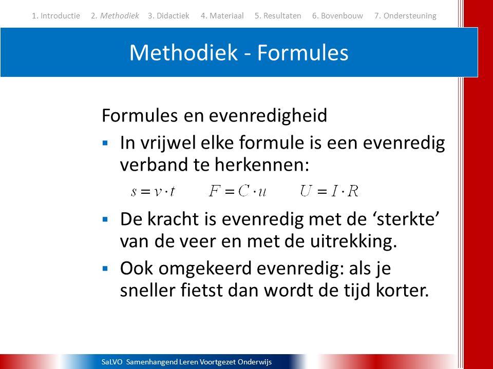 SaLVO Samenhangend Leren Voortgezet Onderwijs Methodiek - Formules 1. Introductie 2. Methodiek3. Didactiek 4. Materiaal 5. Resultaten 6. Bovenbouw 7.