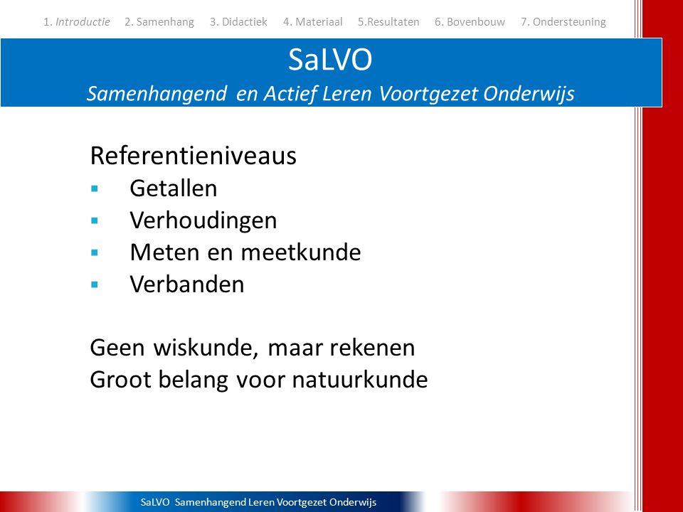 SaLVO Samenhangend Leren Voortgezet Onderwijs Methodiek - Evenredigheid 1.