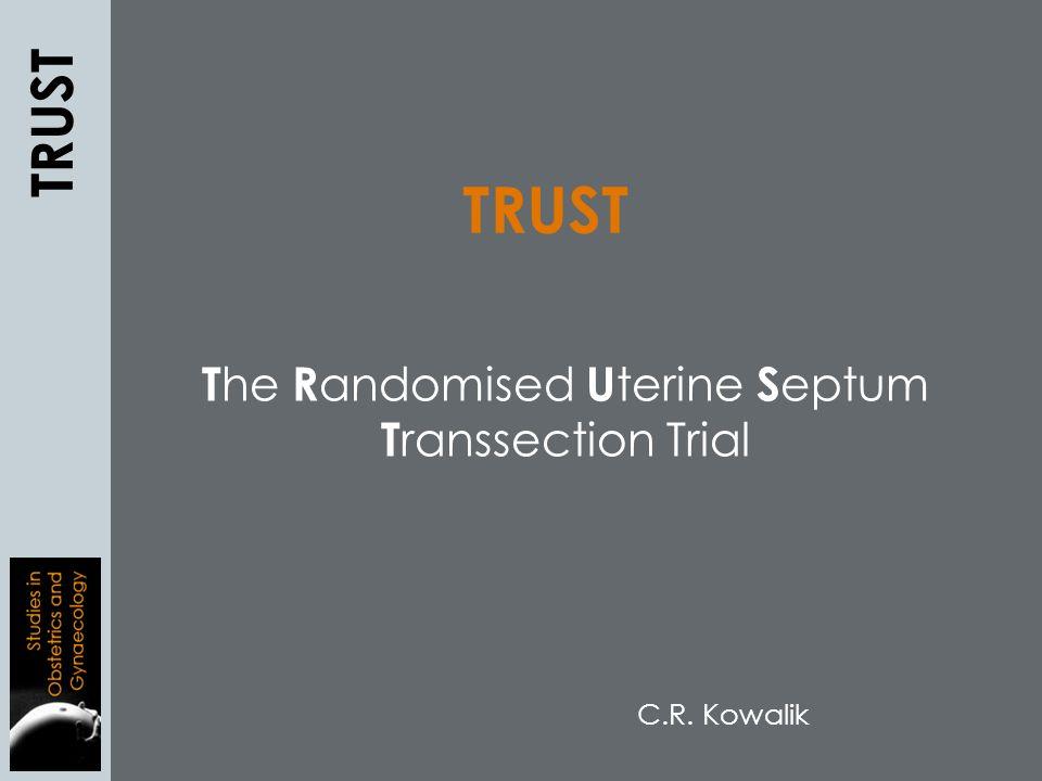  Heeft transcervicale septumtranssectie bij vrouwen met herhaalde miskraam (≥ 2) een positief effect op de zwangerschapsuitkomsten.