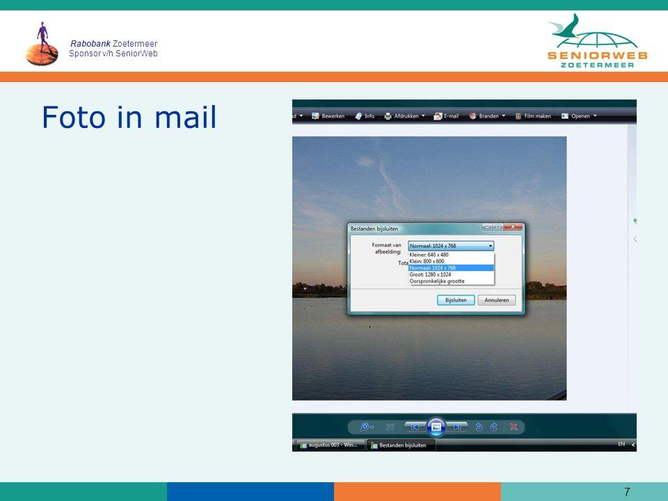 Rabobank Zoetermeer Sponsor v/h SeniorWeb Huiswerk les 3  Oefen wat behandeld is in deze les  Lees de handout goed door.