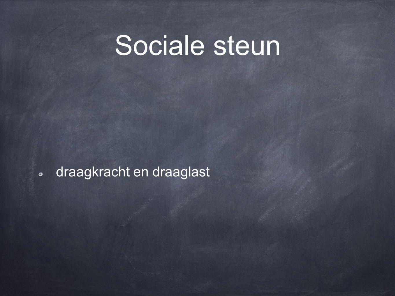 Sociale steun draagkracht en draaglast