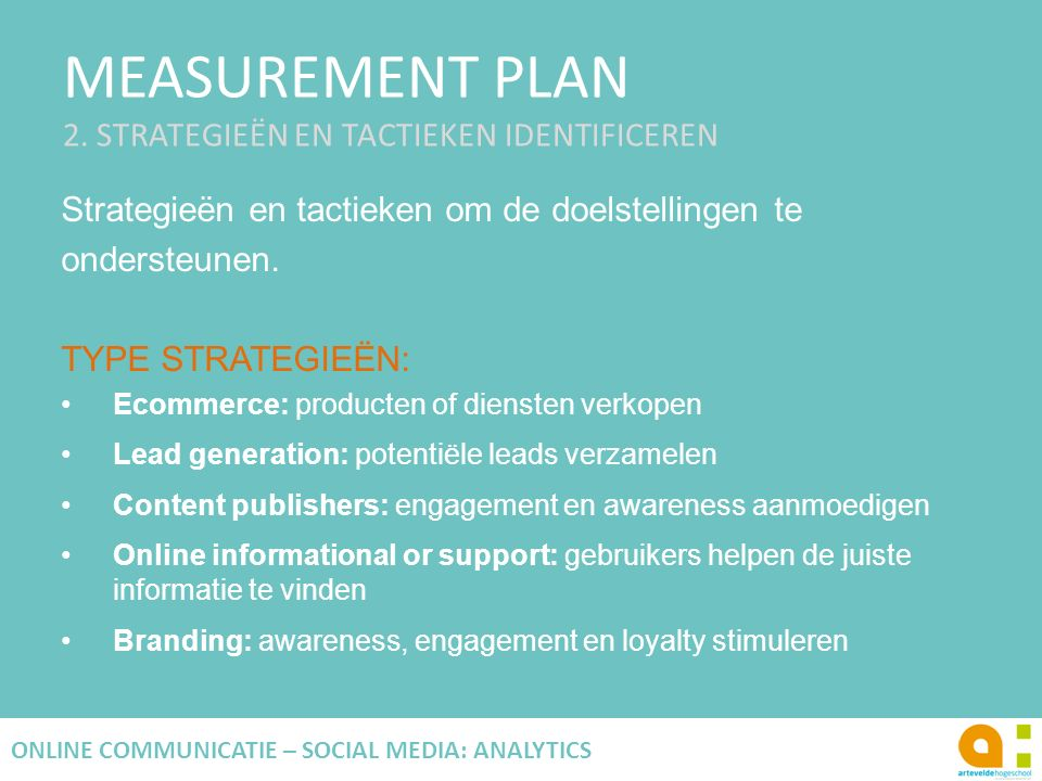 MEASUREMENT PLAN 2.