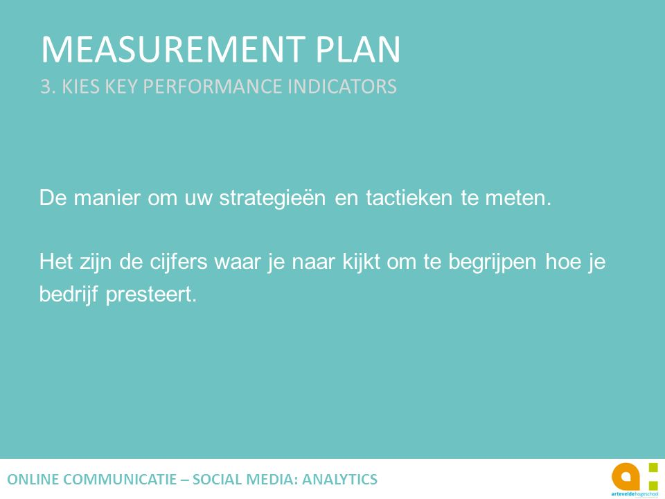 MEASUREMENT PLAN 3.
