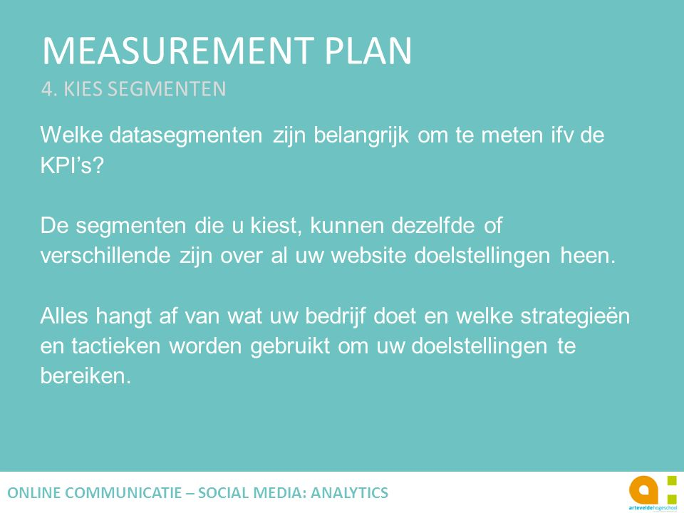 MEASUREMENT PLAN 4.