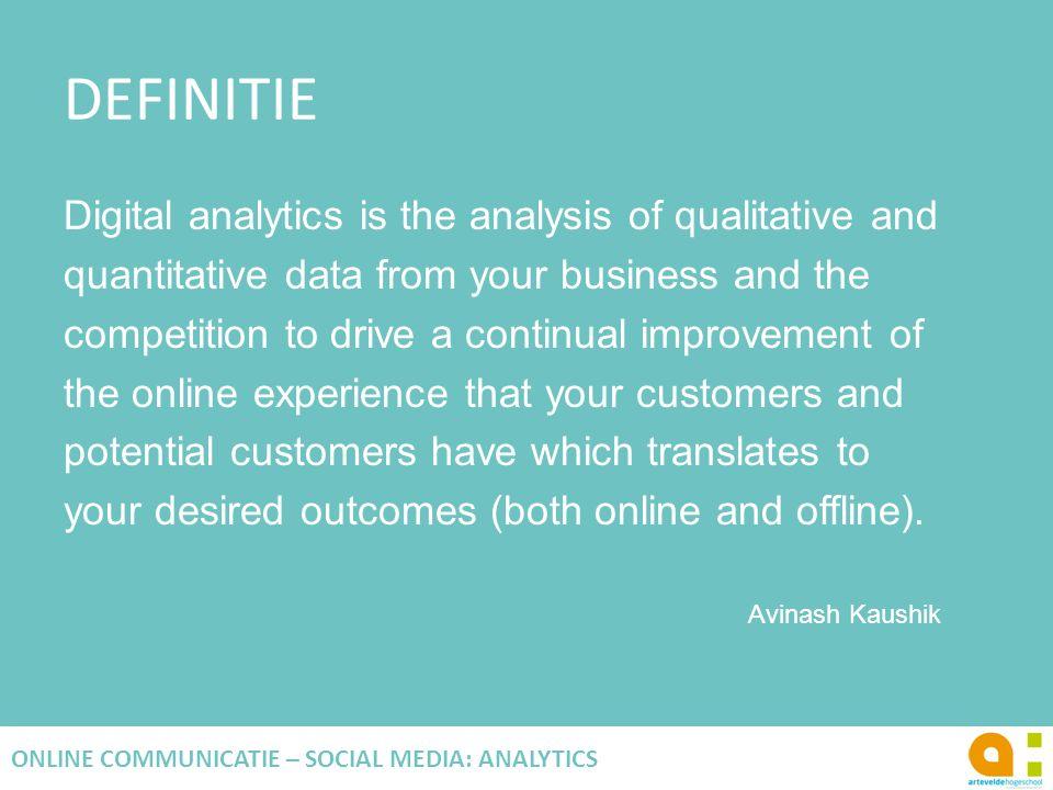 ANALYSE TECHNIEKEN SEGMENTATIE Afbakenen en analyseren van subcategorieën van je data.
