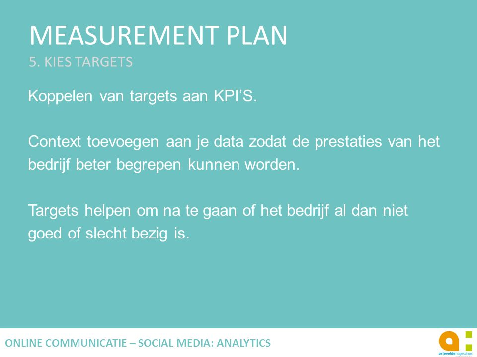 MEASUREMENT PLAN 5.