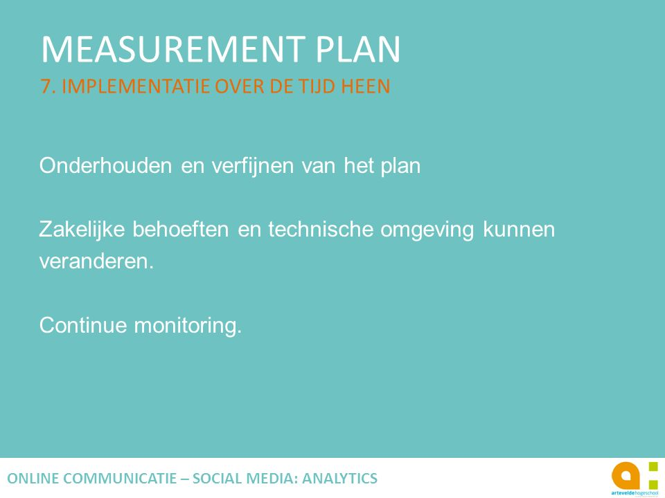 MEASUREMENT PLAN 7.