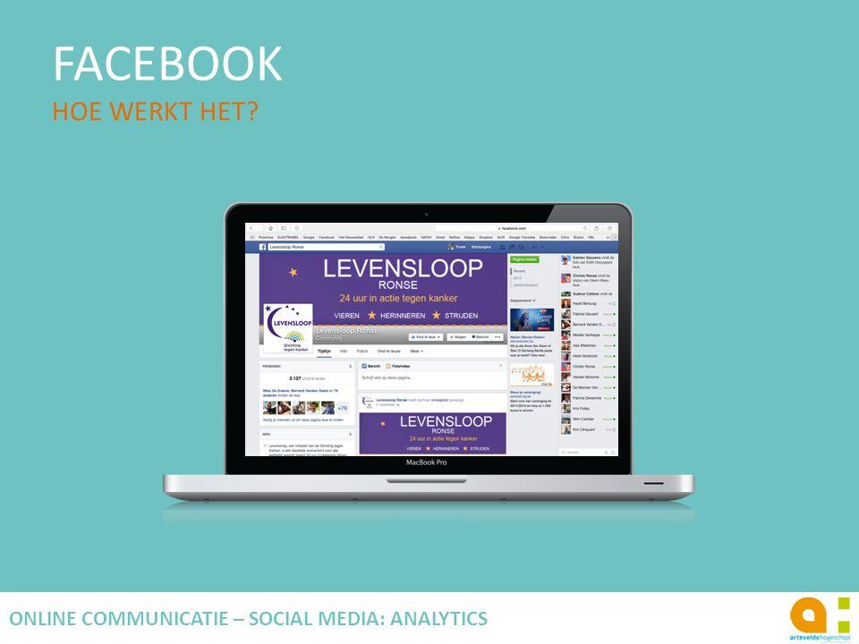 FACEBOOK HOE WERKT HET? 95 ONLINE COMMUNICATIE – SOCIAL MEDIA: ANALYTICS