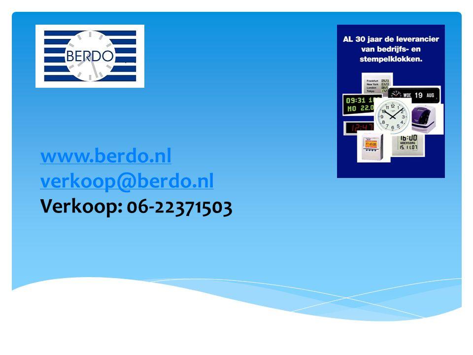 Arnoud van Mancius www.berdo.nl verkoop@berdo.nl Verkoop: 06-22371503