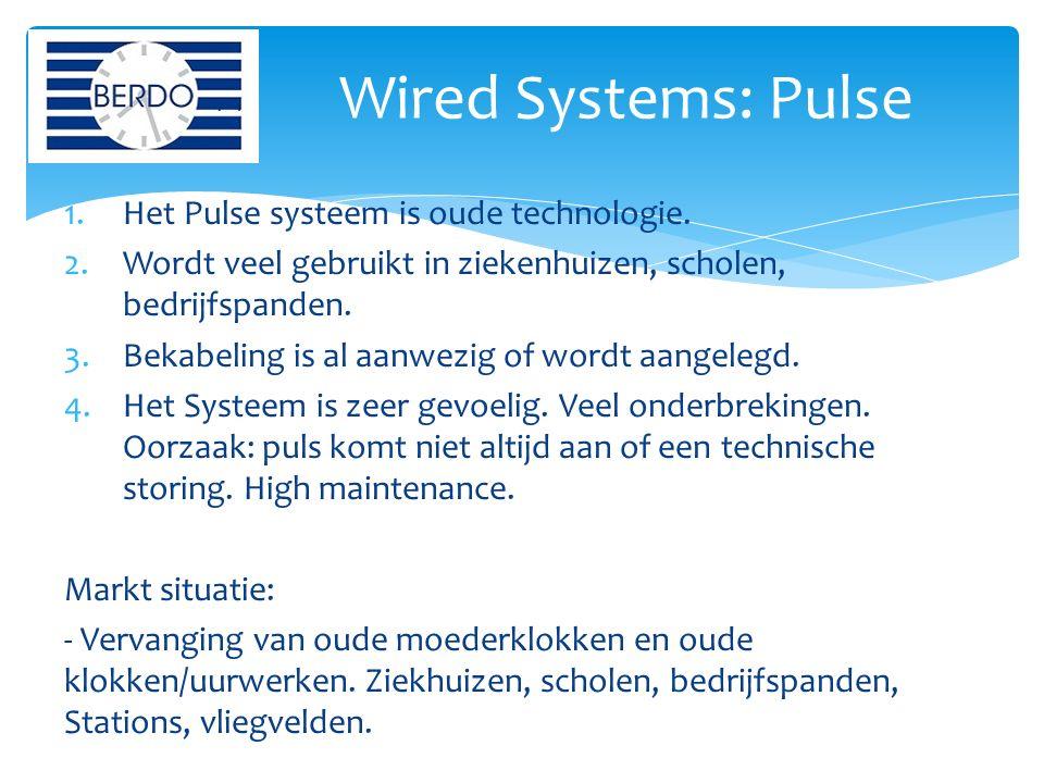 1.Het Pulse systeem is oude technologie.