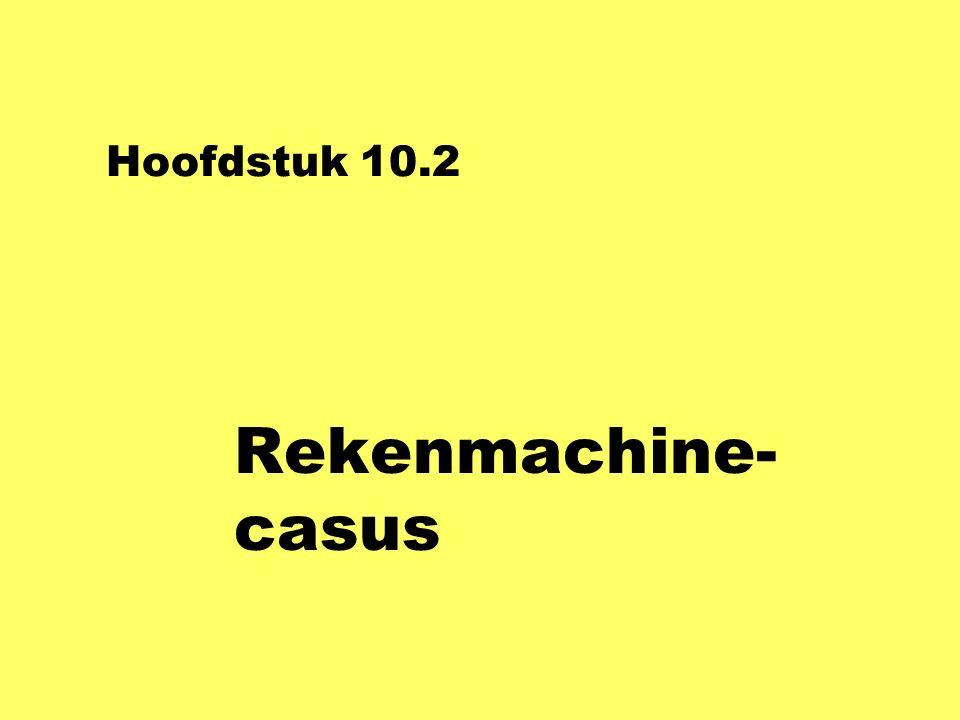 Hoofdstuk 10.2 Rekenmachine- casus