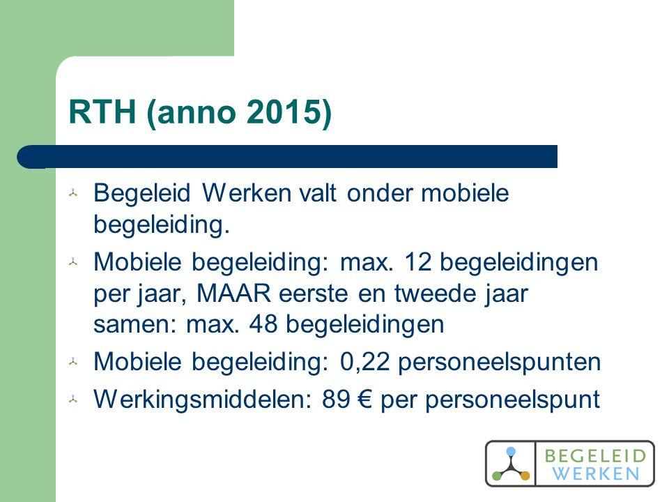 RTH (anno 2015) Begeleid Werken valt onder mobiele begeleiding.
