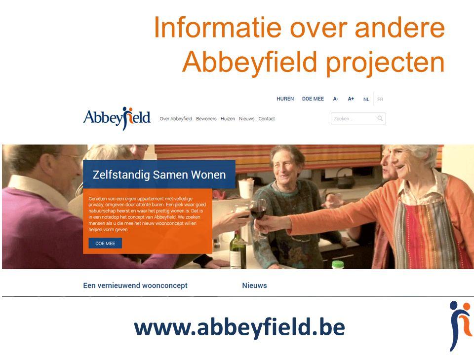 Informatie over andere Abbeyfield projecten www.abbeyfield.be