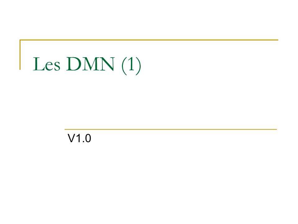 Les DMN (1) V1.0