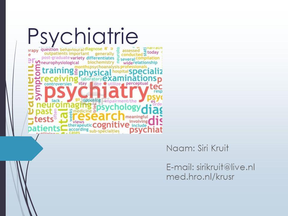 Vandaag Presentatie College over Dissociatieve, somatoforme en nagebootste stoornissen (H.