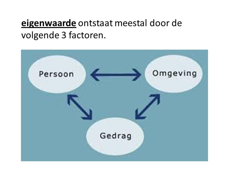 eigenwaarde ontstaat meestal door de volgende 3 factoren.