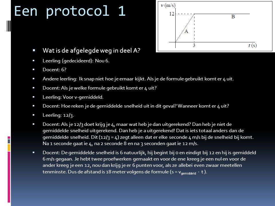 Een protocol 1  Wat is de afgelegde weg in deel A.