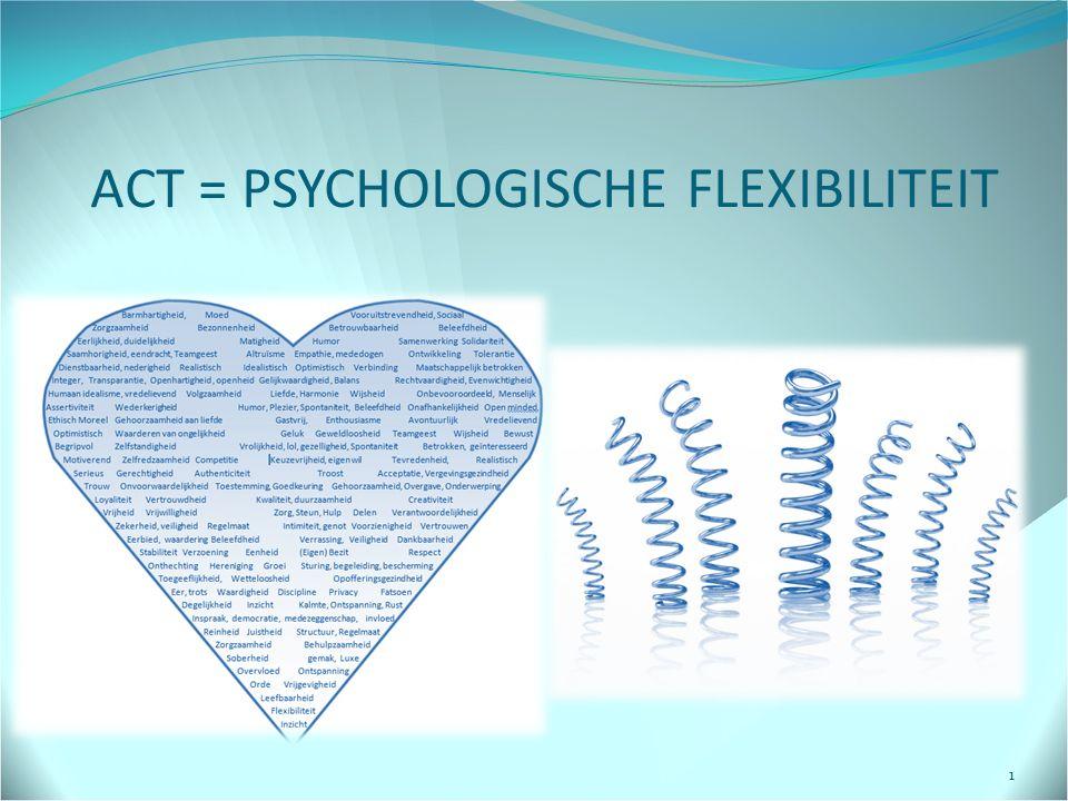 ACT = PSYCHOLOGISCHE FLEXIBILITEIT 1