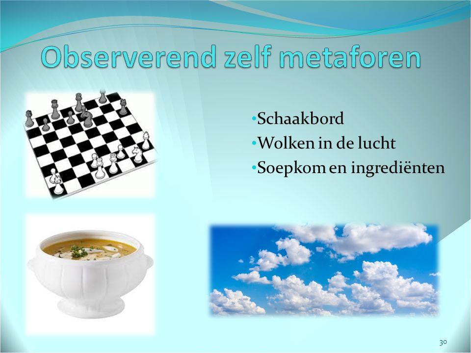 Schaakbord Wolken in de lucht Soepkom en ingrediënten 30