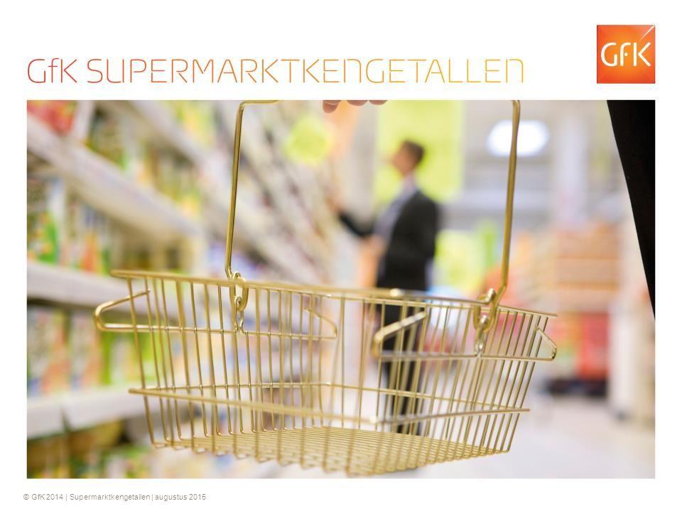 2 © GfK 2014 | Supermarktkengetallen | september 2015 Forse omzetgroei voor supermarkten in augustus 2015.