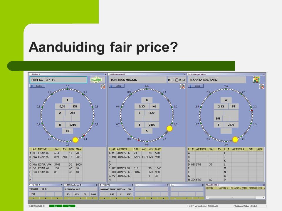 Fair price voor de producent Vermarkting Markttoegang Verkoop Ondersteunende diensten Flankerende acties Keurmerken Marktdifferentiatie en innovatie Crisismanagement o.a.