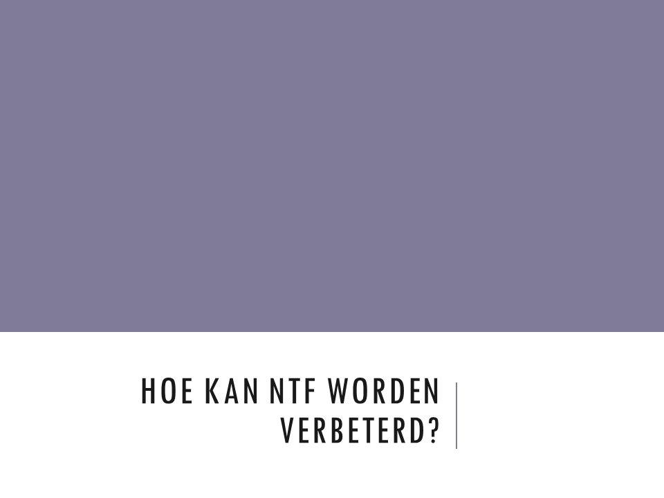 HOE KAN NTF WORDEN VERBETERD