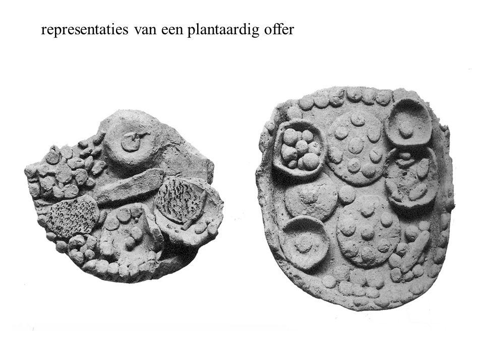 representaties van een plantaardig offer
