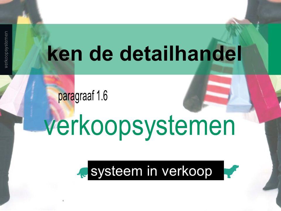 verkoopsystemen ken de detailhandel systeem in verkoop