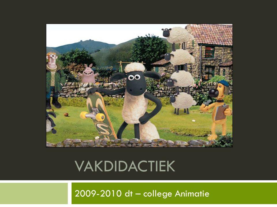 VAKDIDACTIEK 2009-2010 dt – college Animatie