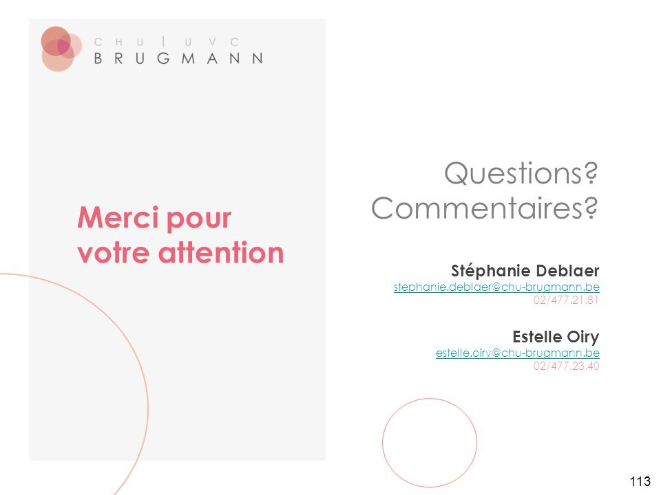 113 Questions. Commentaires.