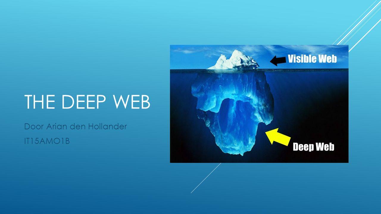 THE DEEP WEB Door Arian den Hollander IT15AMO1B