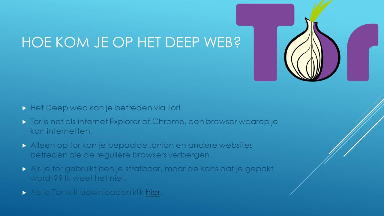 HOE KOM JE OP HET DEEP WEB. Het Deep web kan je betreden via Tor.