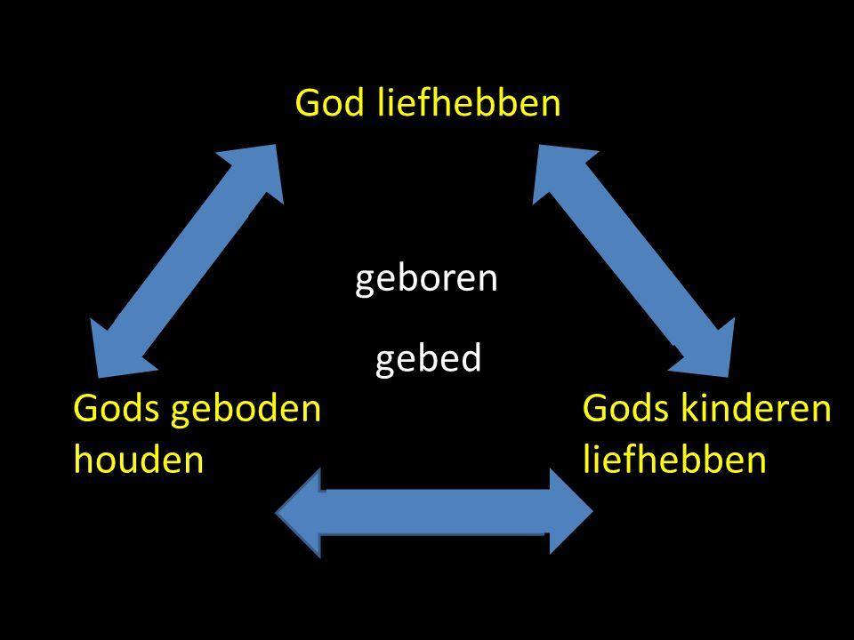 geboren gebed God liefhebben Gods kinderen liefhebben Gods geboden houden