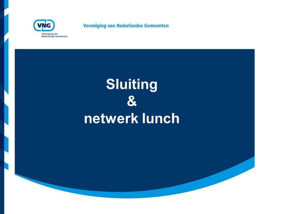 Sluiting & netwerk lunch