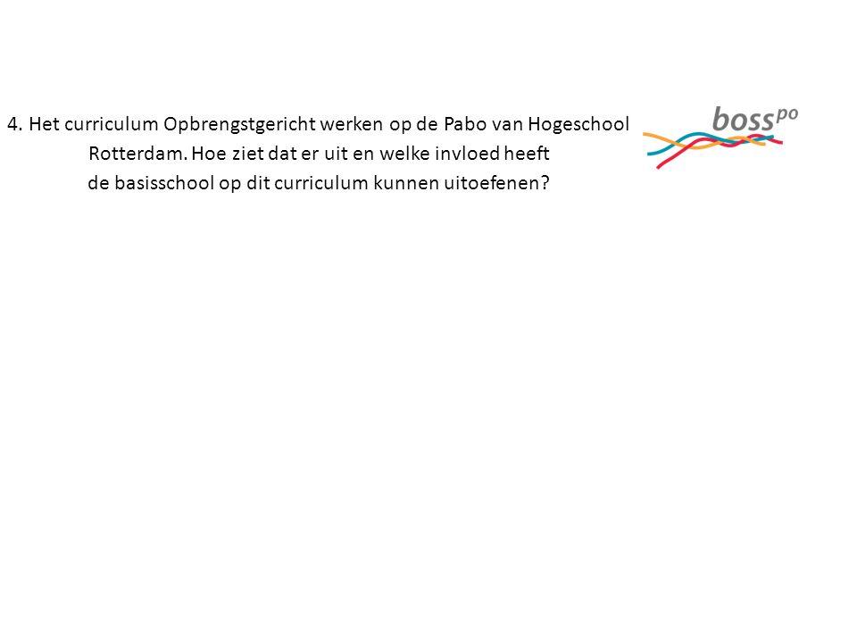 4. Het curriculum Opbrengstgericht werken op de Pabo van Hogeschool Rotterdam.