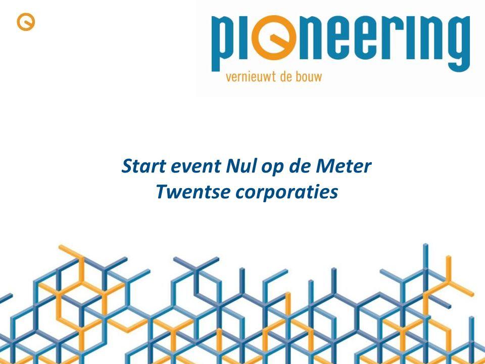 Start event Nul op de Meter Twentse corporaties