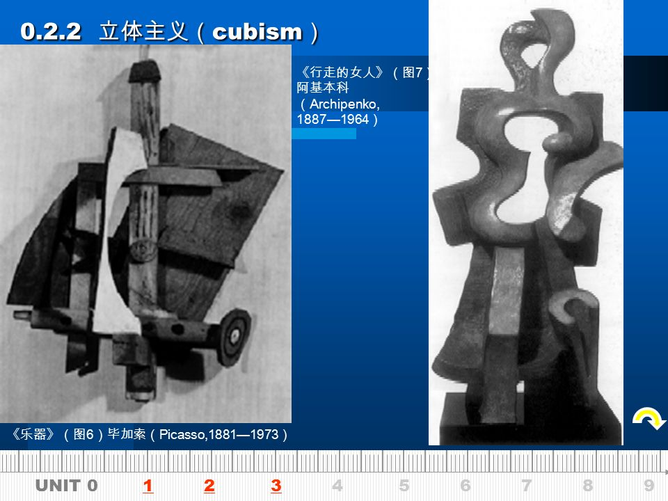 UNIT 0 1 2 3 4 5 6 7 8 9123 0.2.1 原始主义( Primitivism ) B 0.2.1 原始主义( Primitivism ) B 《吻》(图 5 ) 布朗库西( Bran Cusi,1876—1957 )