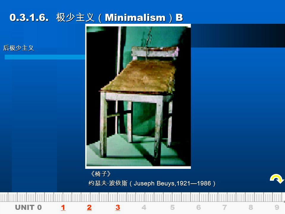 UNIT 0 1 2 3 4 5 6 7 8 9123 0.3.1.6. 极少主义( Minimalism ) A 0.3.1.6.
