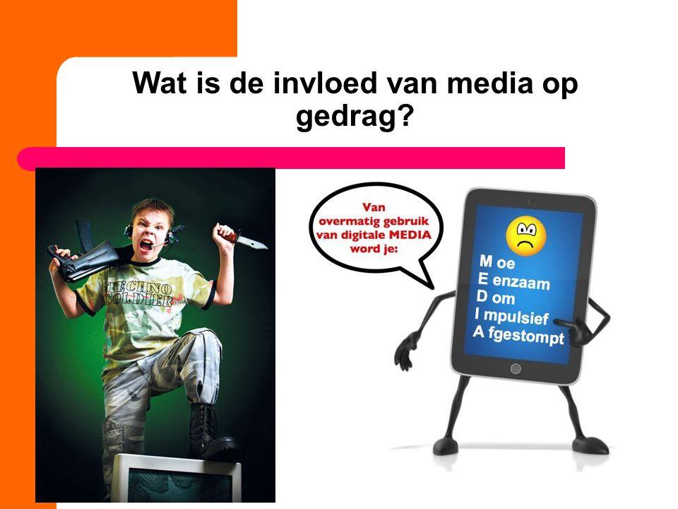 Wat is de invloed van media op gedrag