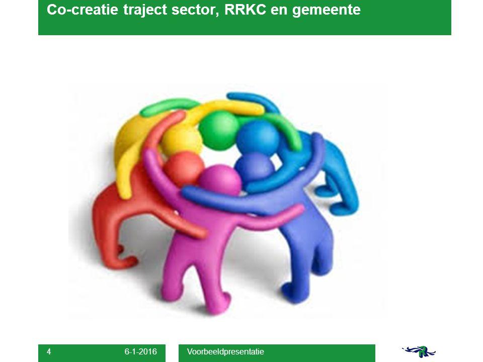 Voorbeeldpresentatie 4 Co-creatie traject sector, RRKC en gemeente