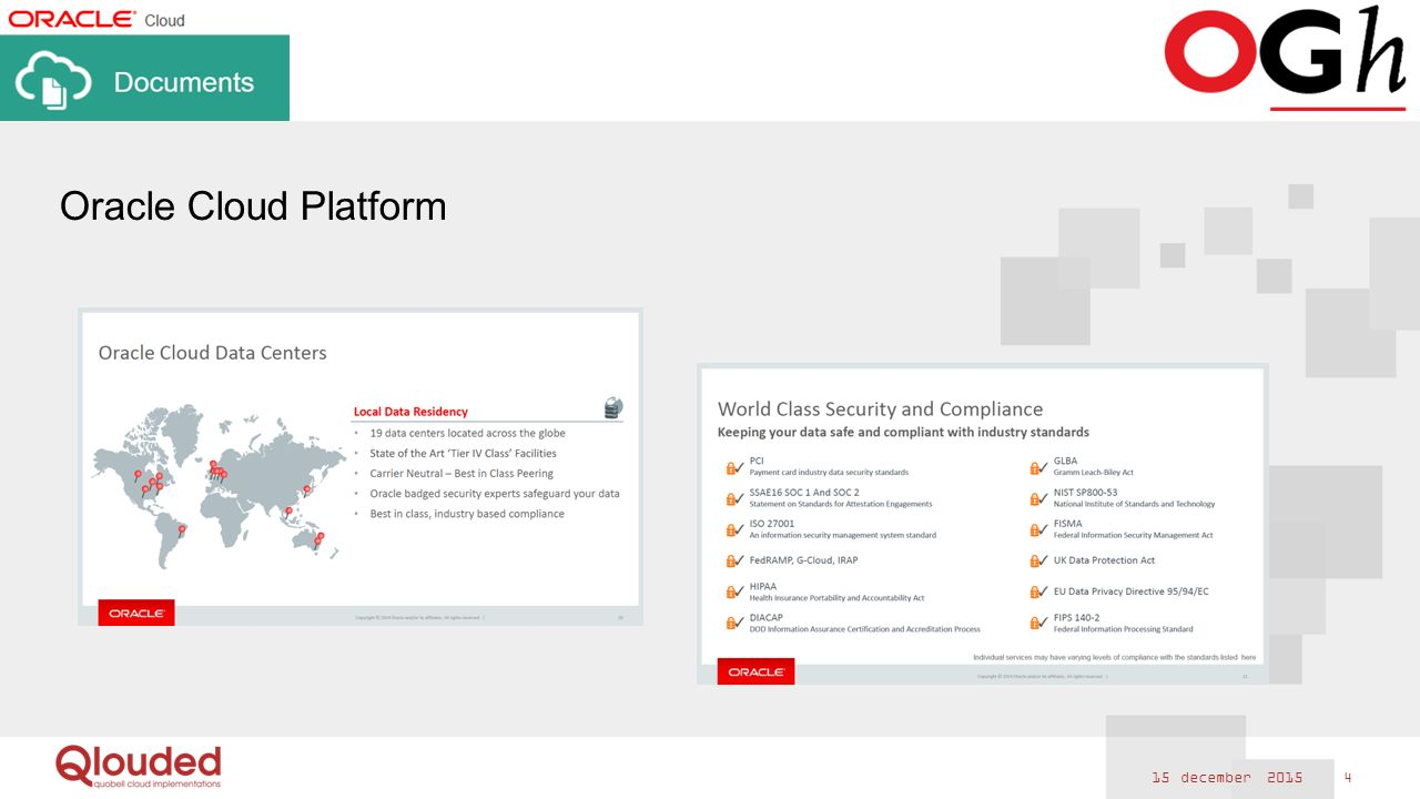 15 december 2015 5 Oracle's Content and Collaboration