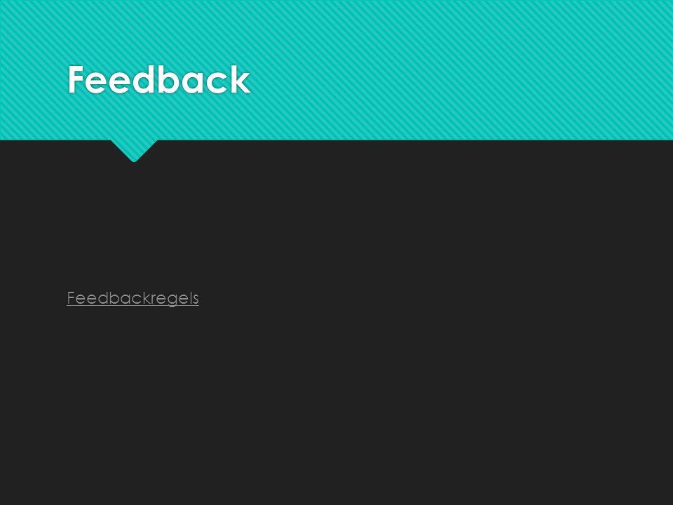 Feedback Feedbackregels