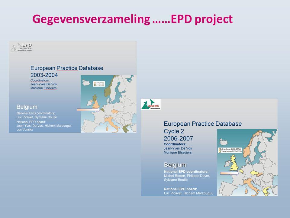 Gegevensverzameling ……EPD project
