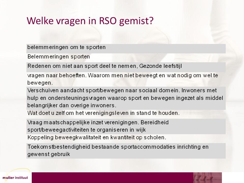 Welke vragen in RSO gemist